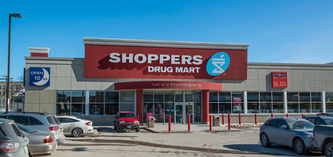 Shoppers Drug Mart entry at the Sherbrook Winnipeg location